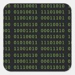 Código binario pegatinas cuadradases