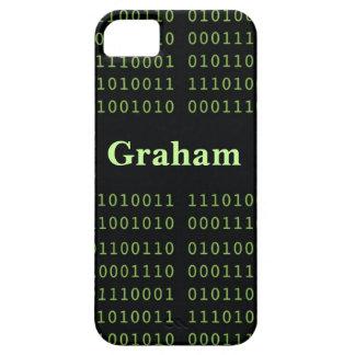 Código binario personalizado funda para iPhone SE/5/5s