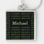 Código binario personalizado llaveros