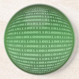 Código binario posavasos cerveza
