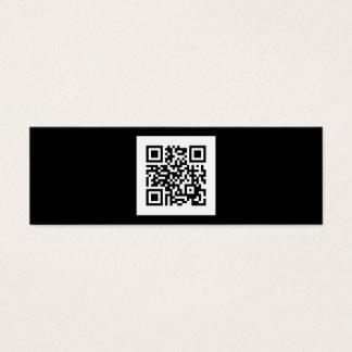 Código blanco y negro moderno de QR Tarjetas De Visita Mini