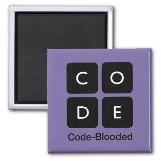 Código-Blooded Imán Cuadrado