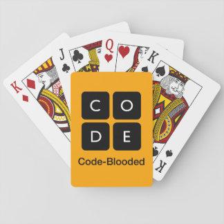 Código-Blooded Cartas De Póquer
