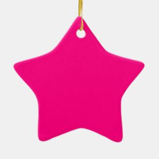 Código color de rosa rosado brillante FF007F del Adorno Navideño De Cerámica En Forma De Estrella