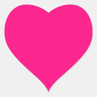 Código color de rosa rosado brillante FF007F del Pegatina En Forma De Corazón