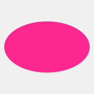 Código color de rosa rosado brillante FF007F del Pegatina Ovalada