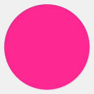 Código color de rosa rosado brillante FF007F del Pegatina Redonda
