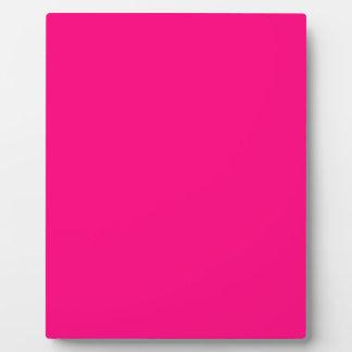 Código color de rosa rosado brillante FF007F del Placas