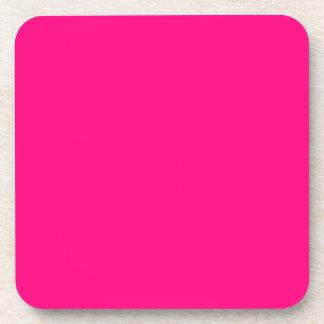 Código color de rosa rosado brillante FF007F del Posavasos De Bebidas