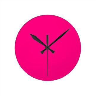 Código color de rosa rosado brillante FF007F del Reloj Redondo Mediano