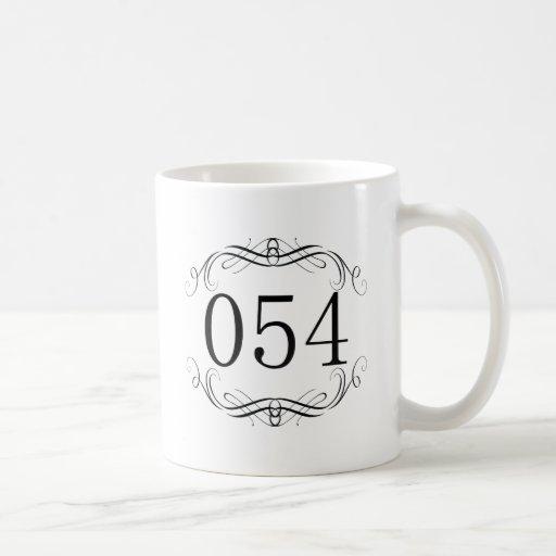 Código de área 054 taza básica blanca