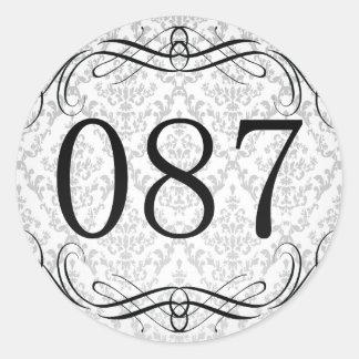 Código de área 087 pegatina redonda