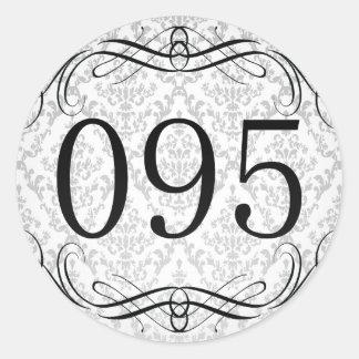 Código de área 095 pegatina redonda