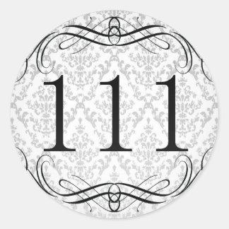 Código de área 111 pegatina redonda