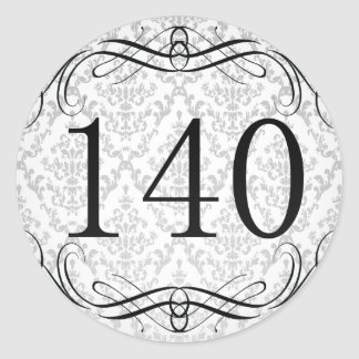 Código de área 140 pegatina redonda