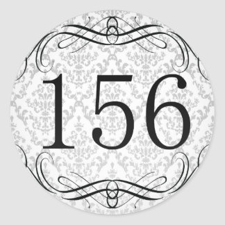 Código de área 156 pegatina redonda