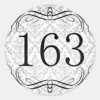 Código de área 163 pegatina redonda