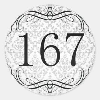 Código de área 167 pegatina redonda