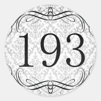 Código de área 193 pegatina redonda