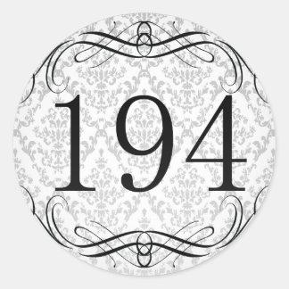 Código de área 194 pegatina redonda