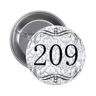 Código de área 209 pins