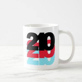 Código de área 210 taza básica blanca
