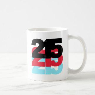Código de área 215 taza básica blanca