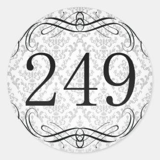 Código de área 249 pegatina redonda