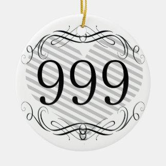 Código de área 254 ornamento para arbol de navidad