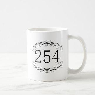Código de área 254 tazas