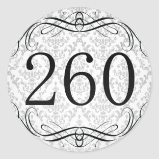 Código de área 260 pegatina redonda
