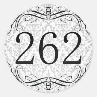Código de área 262 pegatina redonda