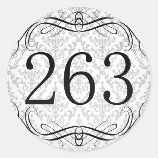 Código de área 263 pegatina redonda