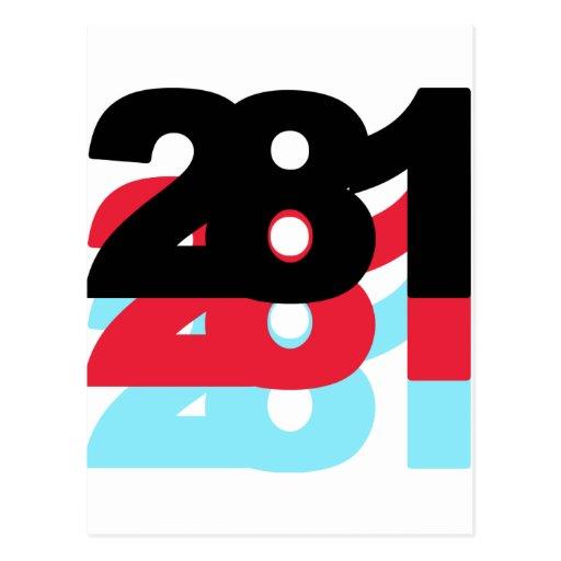 Código de área 281 tarjetas postales