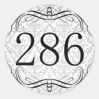 Código de área 286 pegatina redonda