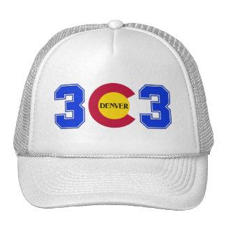 Código de área 303 gorras