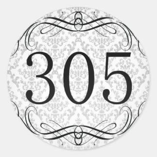 Código de área 305 pegatina redonda