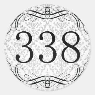 Código de área 338 pegatina redonda