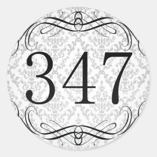 Código de área 347 pegatina redonda