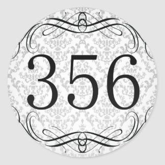 Código de área 356 pegatina redonda