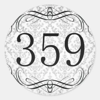 Código de área 359 pegatina redonda
