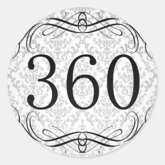 Código de área 360 pegatina redonda