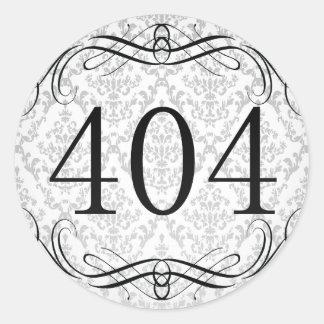 Código de área 404 pegatina redonda