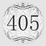 Código de área 405 pegatina redonda