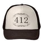 Código de área 412 gorras de camionero