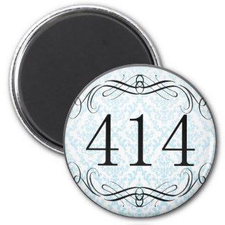 Código de área 414 imán de frigorífico