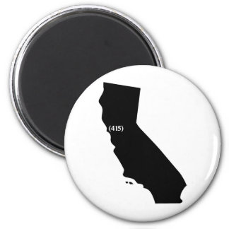 Código de área 415, California, área de la bahía Imán Redondo 5 Cm