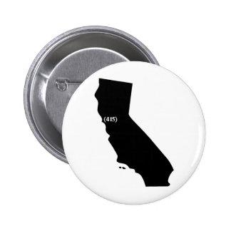 Código de área 415 California área de la bahía Pins