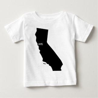 Código de área 415, California, área de la bahía Playera Para Bebé