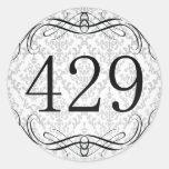 Código de área 429 pegatina redonda